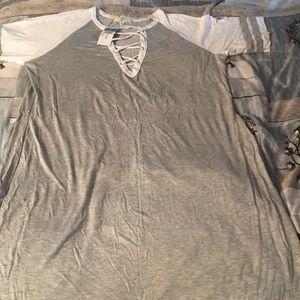 Plus size 3x mini dress Grey